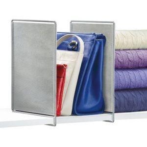 Lynk Vela Shelf Dividers, platinum,2-pack